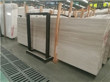 China White Wood Marble Slabs Quarry Price