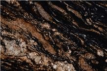 Black Amber Granite Slabs
