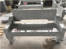 China Coarse Gray Garden Bench