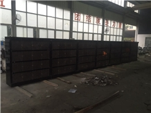 Shanxi Black with India Mahogany Doors Columbarium