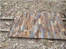 China Rust Slate Wall Pattern Stack Stone