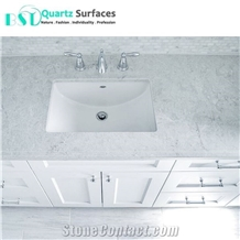 12mm Artificial Quartz Stone Bathroom Vanity Top