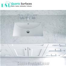 12mm Artificial Quartz Stone Bathroom Vanity Top