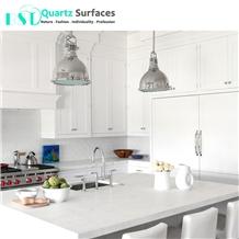 Carrara White Quartz Stone for Kitchen Top