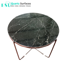 Custom Cut Round Dining Marble Table Tops