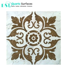 Marble Mosaic Tile with Flower Designs