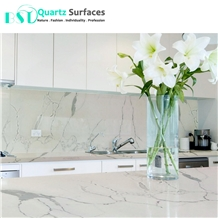 Marble Textures White Body Quartz Bar Tops