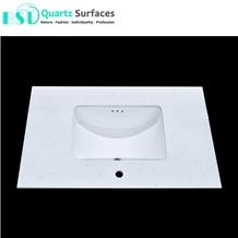 White Carrara Artificial Quartz Stone Countertop