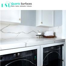 White Prefab Quartz Bath Vanity Tops