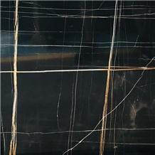 Black Laurent Gold Vein Black Aziza Marble