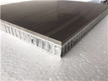 Aluminum Honeycomb Backed Brown Marble Panel