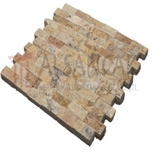 2,5x5cm Scabos Travertine Split Face Mosaic