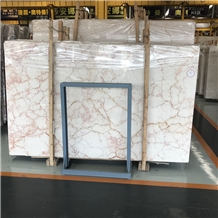 Ivory White Marble with Red Veins