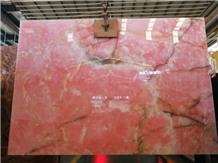 Pink Onyx Slabs and Tiles