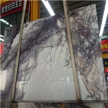 Purple Vein White Marble Tile Import from Turkey