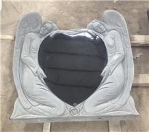 American Style Black Granite Tombstone Factory