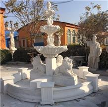 Hot Sale Sculpture Garden Natural Stone Fountain