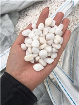 White Marble Machine Made Tumbled Gravel Pebble