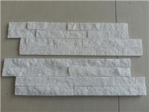 White Quartzite Z Shape Wall Stack Culture Stone