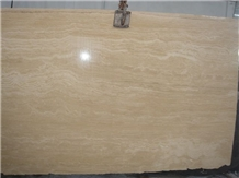 Denizli Beige Travertine Tiles, Vein Cut Slabs