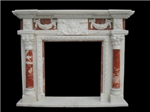 Carved Marble Fireplace,White Marble Handcarved