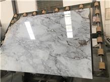 Chinese White Marble Calacatta Taupe Slab