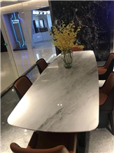 Chinese White Marble Calacatta Taupe Table