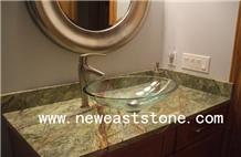 Bidaser/ Rainforest Green Marble Vanity Countertop