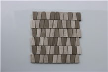 Athens Grey, Light Wooden Marble Mosaics