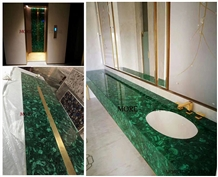Gemstone Luxury Bar Top Malachite Green Price
