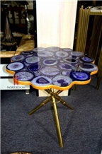 Luxury Agate Side Table Top Hotel Furniture