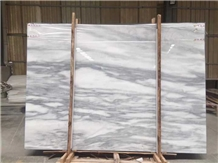 Rain Clouds White Marble Slabs Tiles China Grey