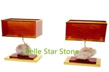 White Crystal Precious Stone Home Decor Desk Lamps