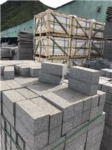 New Black Granite Cobble Kerbstone