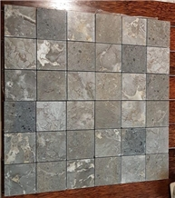 Bali Imperial Grey Marble Square Mosaic Wall Tile