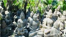 Black Lava Stone Buddha Statue