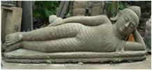 Sleeping Budha Sculpture Lava Stone Statue