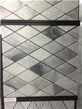White Marble Mosaic Square Pattern Wall Mosaic
