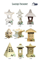 White Sandstone Decorative Lamps House for Garden