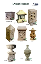 Yellow Sandstone Decorative Landscaping Lanterns