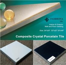 Composited Crystal-Procelain Tiles, Black &White