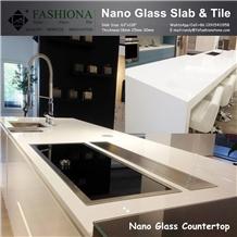 Supre White Nano Glass Counter Tops