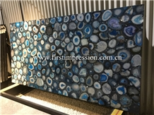 Blue Agate Slabs&Tiles/Natural Gemstone