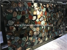 China Colorful Agate Slabs&Tiles/Natural Gemstone