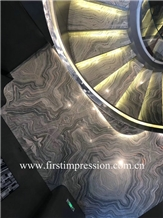 Cool Water Cloudy Grey Marble Cut to Size&Stairs