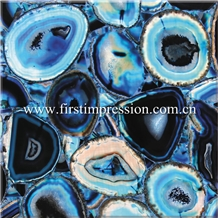 First Impression Stone/Blue Agate Stone Slab&Tile