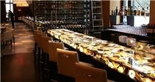 Grey Agate Gemstone Bar Counter Top
