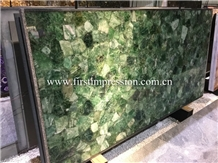 Hot Green Semiprecious Stone Slab