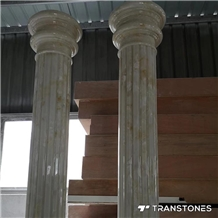 Alabaster Stone Pillar Roman Column