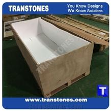 Artificial Beige Marble Reception Desk